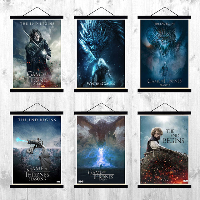 Game Of Thrones Season 7 Tv Movie Coated Poster Painting Home Room