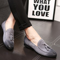 The new summer suede leather shoes leather loafers British men's casual shoes