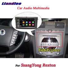Liandlee автомобиль Android 8,0 Системы Для SsangYong Rexton радио dvd-плеер рамка USB AUX gps Navi карта навигации HD Экран мультимедиа