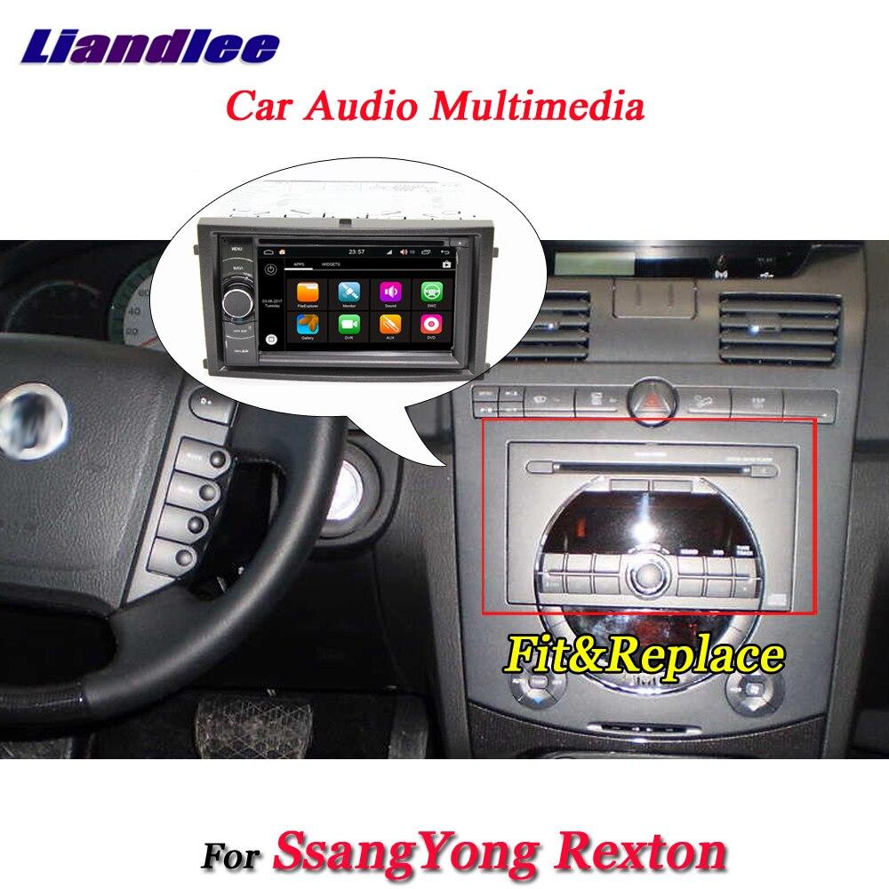Liandlee voiture Android 8.0 système pour SsangYong Rexton Radio lecteur DVD cadre USB AUX GPS Navi carte Navigation HD écran multimédia