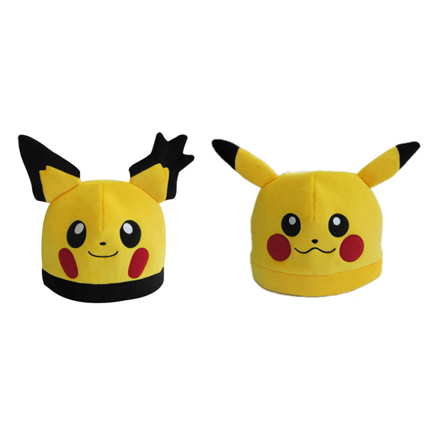 Cartoon plush toys Pikachu Cosplay cotton hat cute animal dolls baby toy for Childrens Gift High Quality