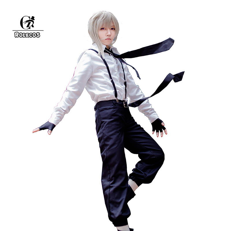 ROLECOS 2017 New Bungou Stray Dogs Cosplay Atsushi Nakajima Anime Cosplay Clothing Bungo Stray Dogs Cosplay Costumes