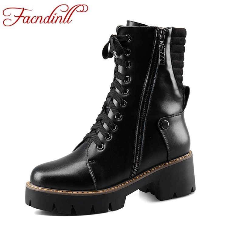 FACNDINLL women genuine leather ankle boots casual high heel black zipper fashion shoes round toe autumn winter motorcycle boots women high heel shoes women slingbacks sandals genuine leather solid color black white summer fashion casual shoes round toe