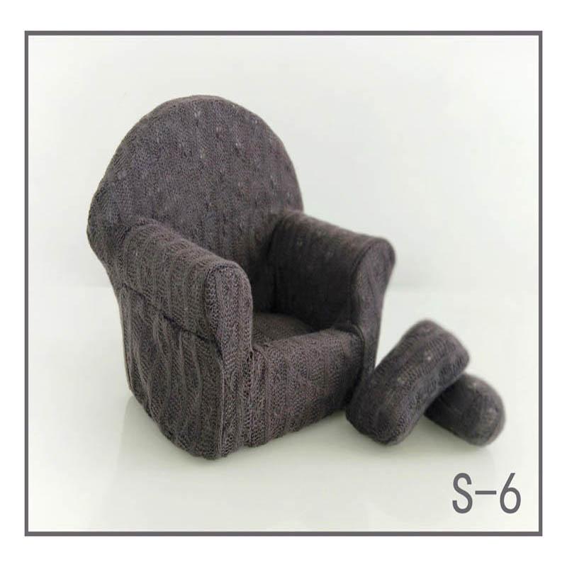Реквизит для фотосъемки новорожденных, позирующий мини-диван, кресло на руку и 2 подушки, реквизит для фотосессии, студийные аксессуары для детей 0-3 месяцев - Цвет: 20