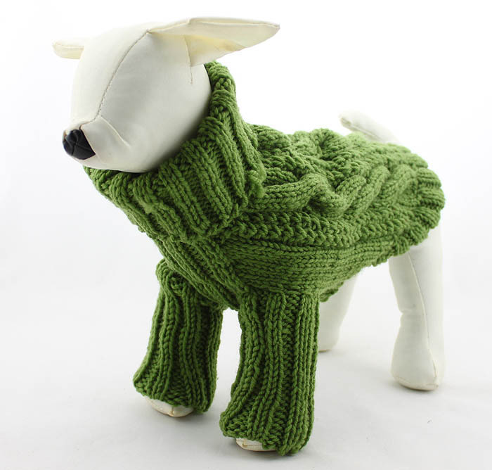 8e599499c52c Dog's Turtleneck Cable Sweater Pet Dog Clothes Puppy Long Sleeve Handmade  Knitted Winter and Autum Sweater Free Shipping-in Dog Sweaters from Home &  Garden ...