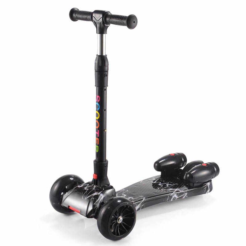 Die Neue kinder roller kinder roller Beleuchtet rad Roller dreirad für kinder von 3 jahre Geschenk für kinder