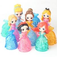 12pcs/set Kid my cute little Anna and Eelsa Sofia Princess 6 dolls + 6 dress Toy Action poni Unicorn vinyl dolls