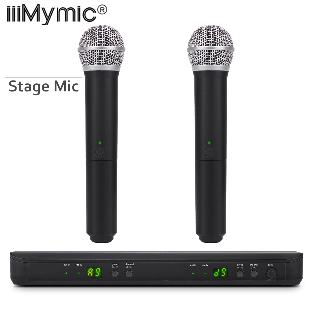 Perfect for stage BLX 288 88 PG 58A UHF Wireless Microphone Karaoke System With PG 58