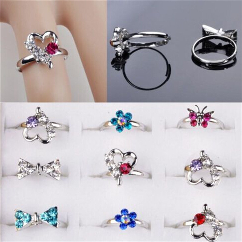 boys plastic dot girls lovely kids for item jewelry lot random pattern kid resin wholesale rings