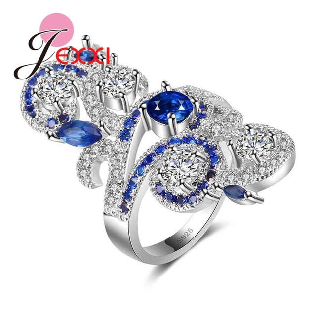 JEXXI Big Particular Flower Bague for Women Ladies Sweet Birthday Gift Hot Sale