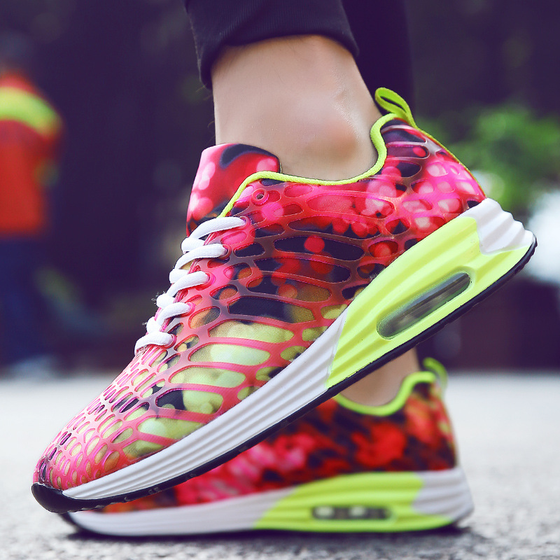 Couples 2018 spring new men sports shoes for women walking jogging shoes moisture mat camouflage mesh Breathable running shoes