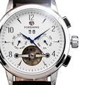 Mens Watches FORSINING Top Brand Luxury Tourbillon Automatic Watch Leather Business Clock Men Calendar Mechanical Wristwatch