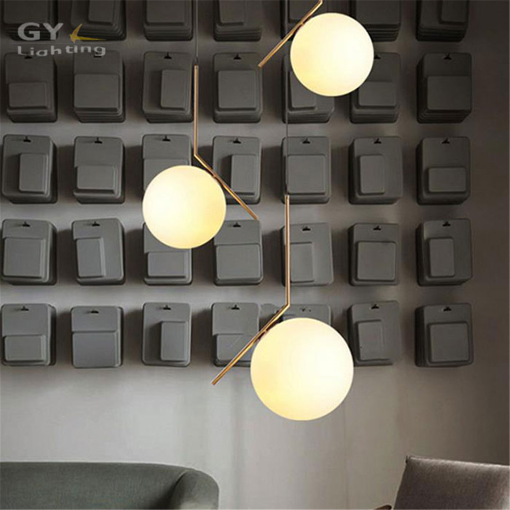 Modern glass ball Iron led pendant light dining room kitchen restaurant clothing store decor suspension luminaire pendant lamp new rope lamp modern country pendant light restaurant kitchen dining room black iron flaxen fabric lampshade decor e14 110 240v