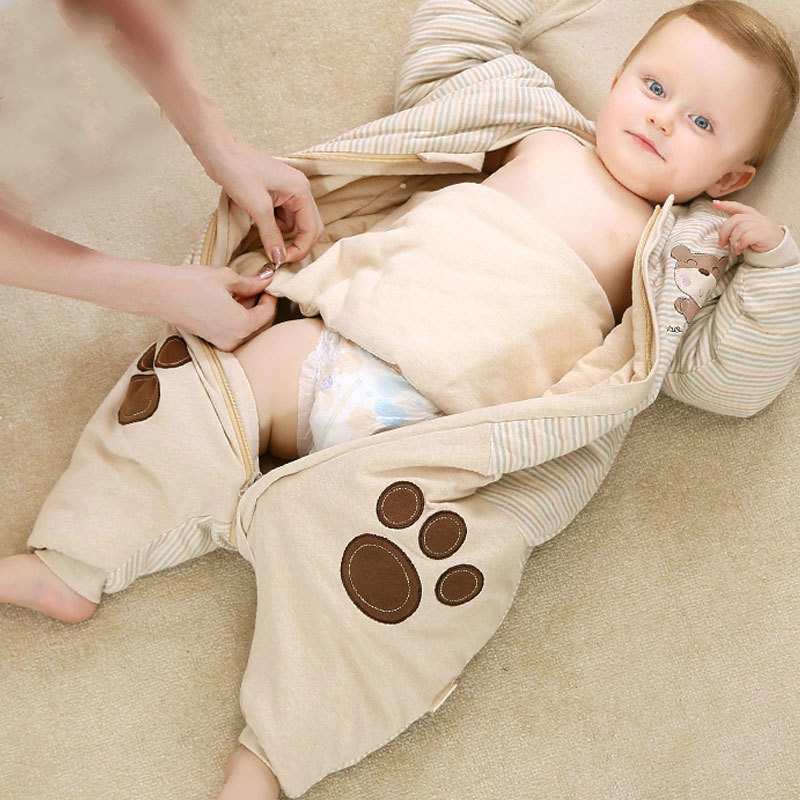 Baby Sleeping Bag thick winter leg warm newborn winter cotton winter section of the baby anti-kick sleeping bag yagenz 2017 new feather cotton coats winter korean version of the long section of the big hair collar loose thick cotton coat