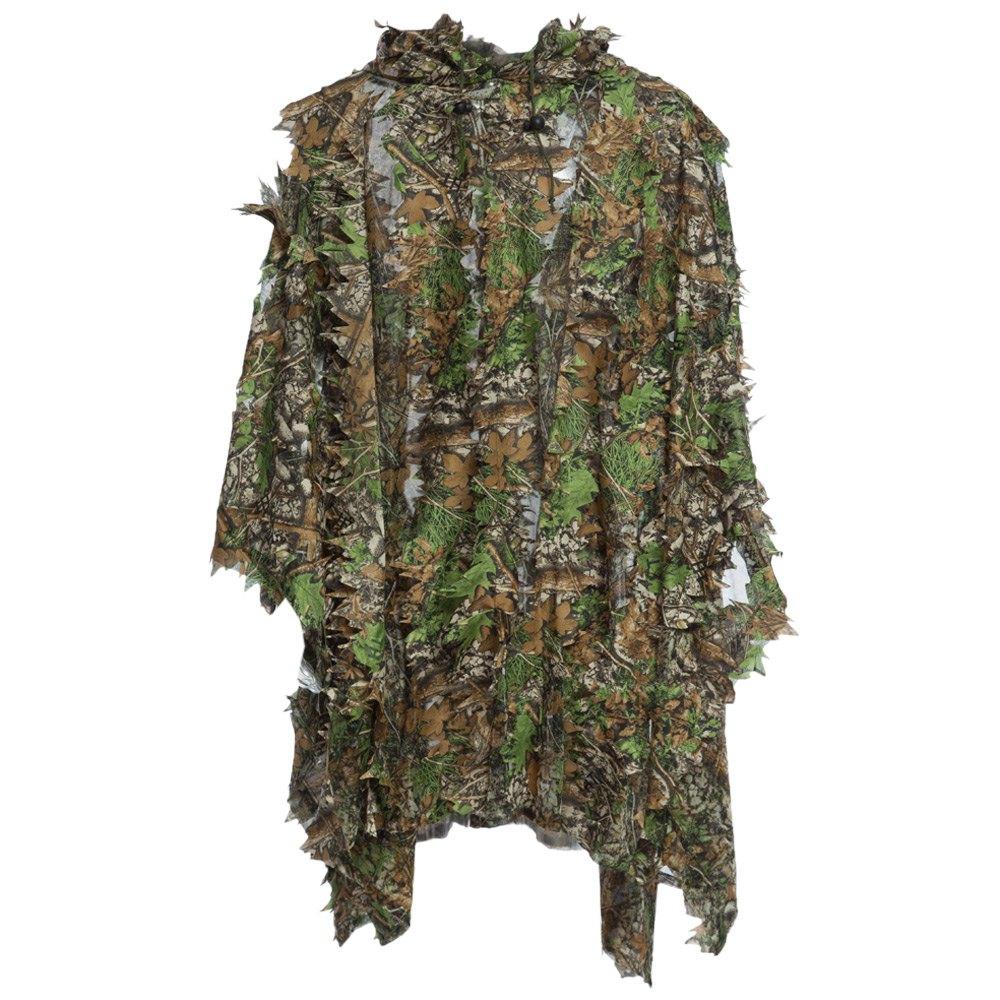 Sonderabschnitt Jagd Ghillie Suit 3d Camo Bionische Blatt Tarnung Dschungel Woodland Vogelbeobachtung Poncho Manteau Jagd Kleidung Langlebig Sportbekleidung Sport & Unterhaltung