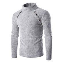 2017 frühling Männer Pullover Marke Mode Rollkragenpullover Gestrickten Pullover Pullover Herren Beste Qualität Casual Pullover Plus Size strickwaren-strickjacke