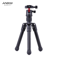 Andoer Camera Mini Tabletop Travel Tripod Stand with Ball Head Quick Release Plate Portable Lightweight for Canon Nikon Sony