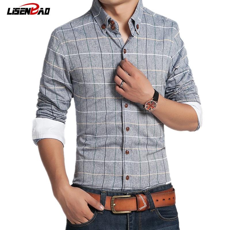 2017 Men 100 Cotton Retro Dress Shirts Brand Hot Man