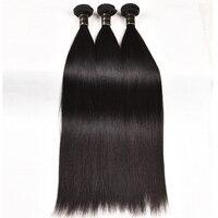 Brazilian Straight Human Hair Bundles 100% Unprocessed Virgin Human Hair 8A Grade 1/3/4 Bundles Weave Natural Color Straight