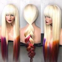 150% полный кружево парик натуральные волосы мёд блондинка парик 613 Бразильский прямой парик предварительно сорвал Glueless Полный Искусственны