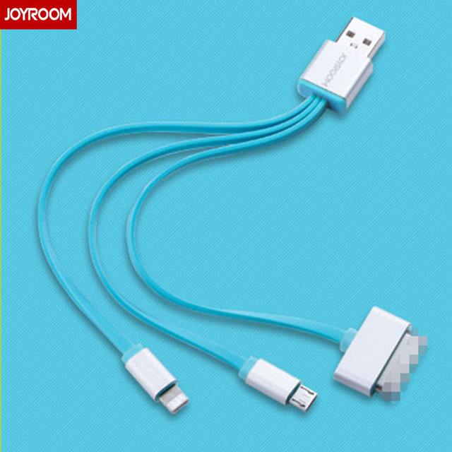 Joyroom i5 micro usb 30 pinos para 8 pinos cabo relâmpago 3 em 1 cabo do carregador de cabo para iphone 4 huawei p8 cabo micro usb iphone 5
