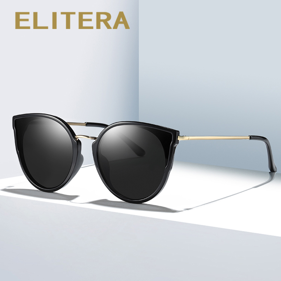 ELITERA Cat Eye Sunglasses Women Men Brand Designer Sun glasses Retro Vintage Female Top Quality Eyewear