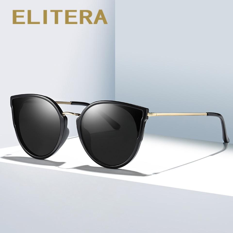 ELITERA Cat Eye Sunglasses Women Men Brand Designer Sun glasses Retro Vintage Female Top Quality Eyewear
