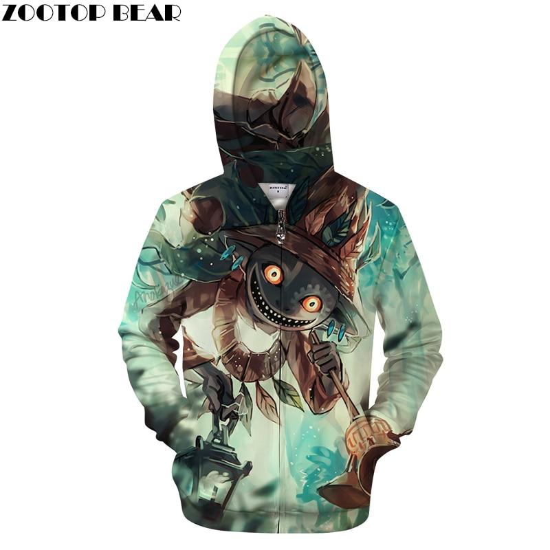 Totoro&Forest 3D Print Hoodies Men Women Tracksuit Summer Anime Long Sleeve Sweatshirt Pullover Zipper New Drop Ship ZOOTOP BEAR