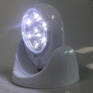 Image 5 - Lámpara de luz con Sensor activado de movimiento inalámbrico, 6V, 7 LED, rotación de 360 grados, lámparas de pared, luces blancas para porche, iluminación interior y exterior