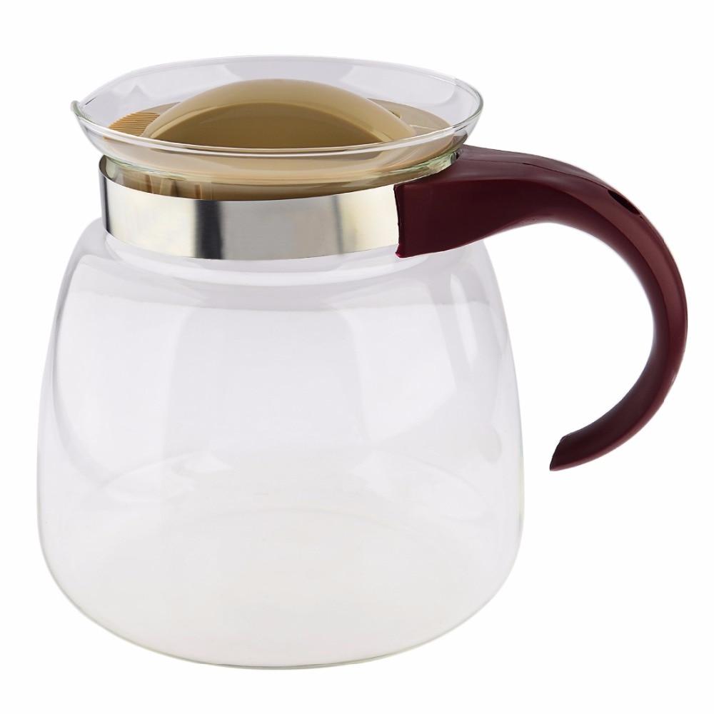 New 1800ml Simple Tea Kettle Tea Pot Heat Resistant Glass Teapot Convenient Office Tea Pot Set