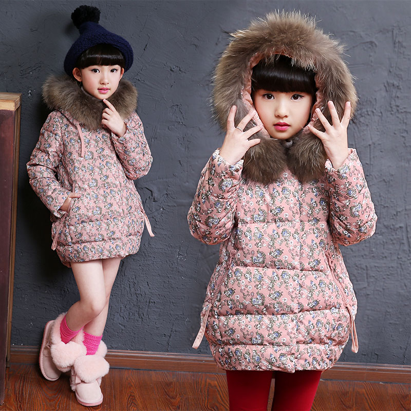Baby girls down winter coat kid casual outwear cotton padded jacket baby clothing children outerwear party thick warm snowwear free shipping winter children s clothing baby cotton padded jacket outerwear fleece coat children clothing