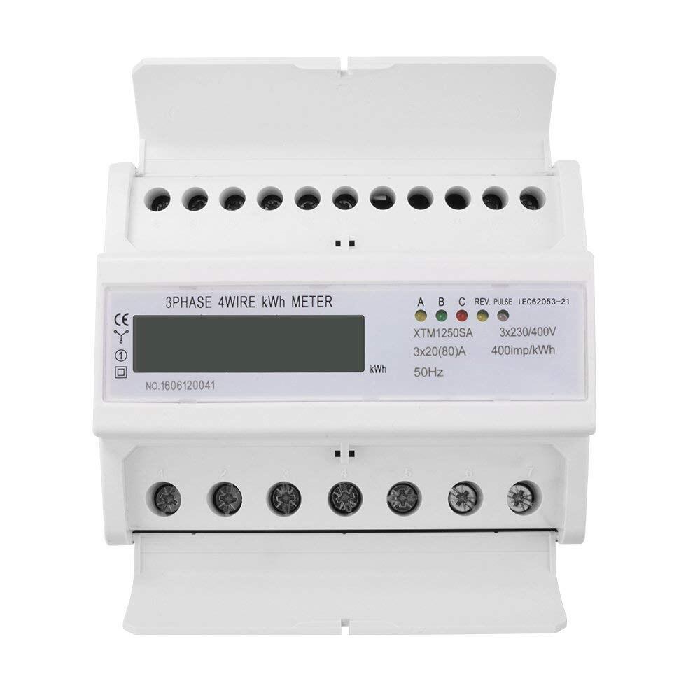 7-цифра ЖК-дисплей кВтч счетчик энергии 3x20 (80) 3x230/400 В 50 Гц трехфазный четыре провода на din-рейку кВтч Ватт час Din- rail счетчик энергии AD263