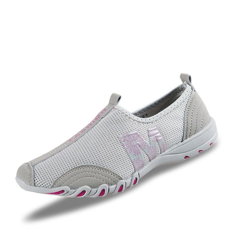 2018 Women Walking Shoes Women Mesh Sneakers Breathable Low Top Flat With Single Shoes Female Summer Shoes Hot Sale A651