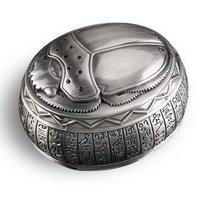 OGRM Metal Crafts Egyptian Scarab Beetle Metal Jewelry Box Treasure Gift Box Vintage Home Decor