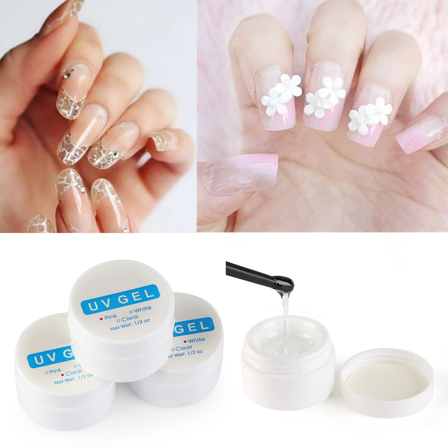 1Box Fast dry Nail Art Glue UV Gel Rhinestones Decoration ...