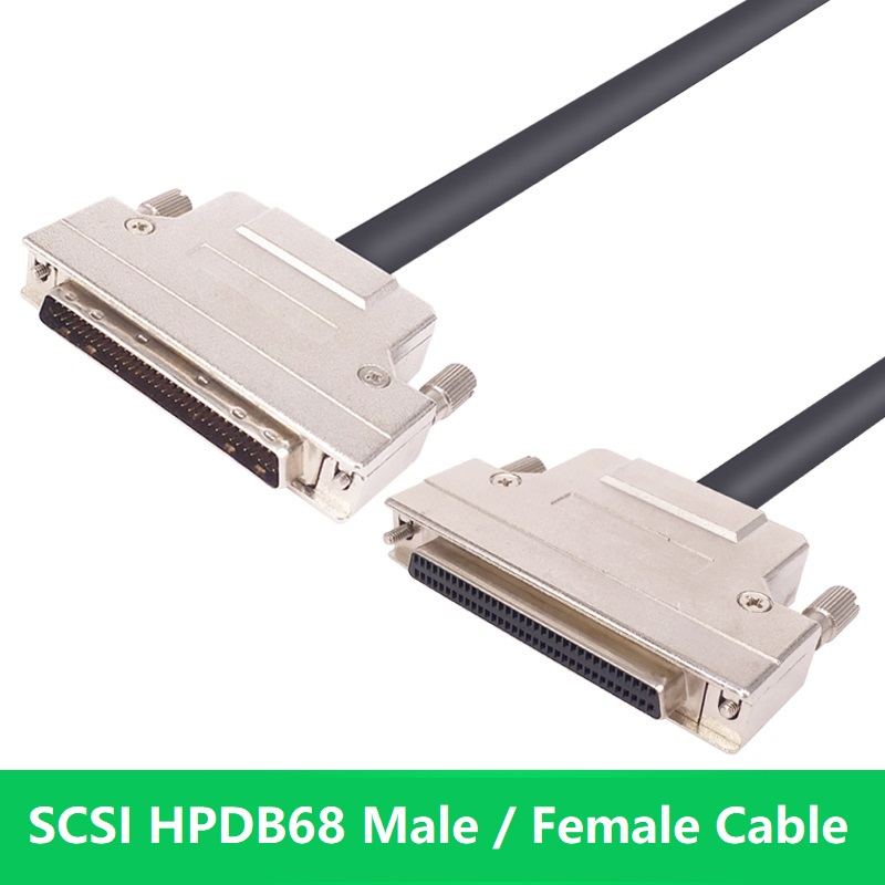 HPDB68 HPDB 68 Pin SCSI Cable Male to Male Male to Female Female to Female F