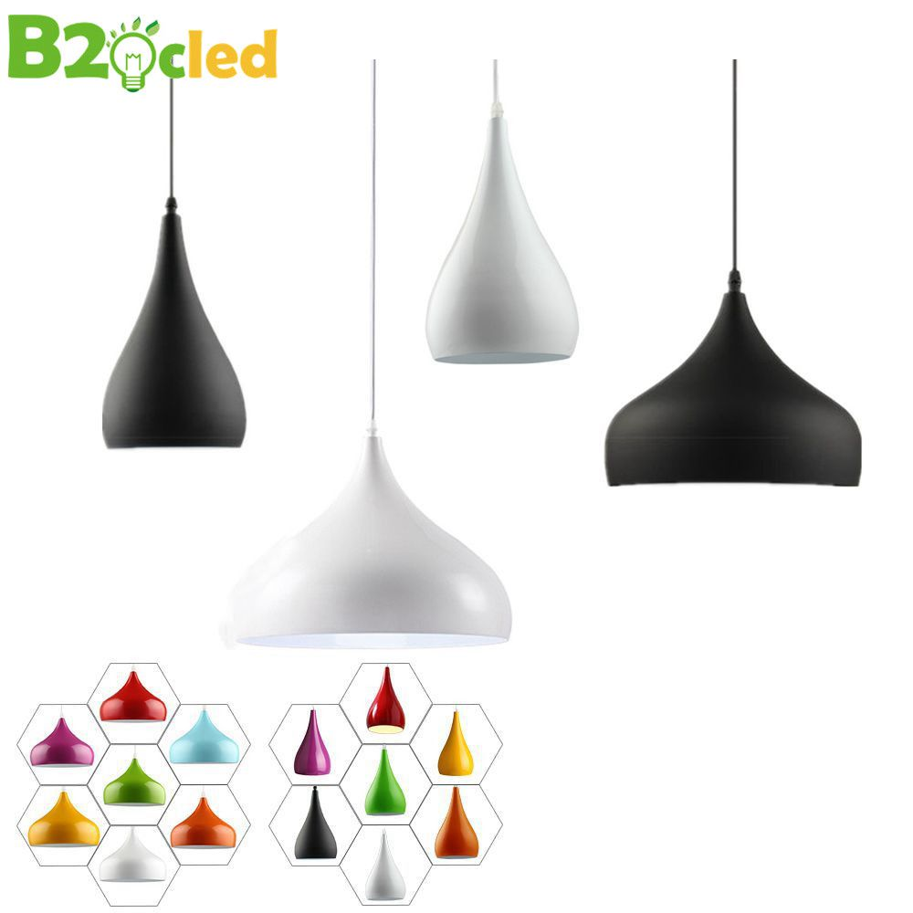 Современная мода подвесной светильник светодиодный светильник алюминиевый подвесной светильник абажур для столовой освещения Luminarias черн...