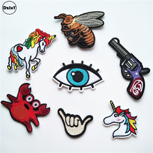 Unicorn Crab Eye Embroidered Iron On Patches