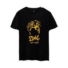 Famoso Hip Hop Rapper 2PAC camiseta Tupac Amaru Shakur silueta imprimir  manga corta Camisetas gran tamaño 9f6a7582bd5