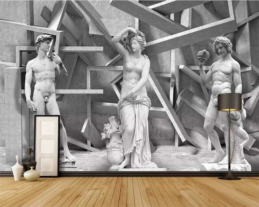 Beibehang Custom Wallpaper 3d Photo Wall Painting Sculpture Stereo Art Background Wall Paper Decorative Painting 3d Wallpaper