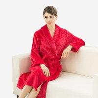 Lovers Super Soft Silk Flannel Kimono Bathrobe Wedding Peignoir Bridesmaid Bath Robes For Women Dressing Gown