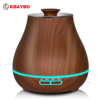 KBAYBO 400 Ml Aroma Essential Oil Diffuser Ultrasonic Air Humidifier With Wood Grain Electric LED Lights
