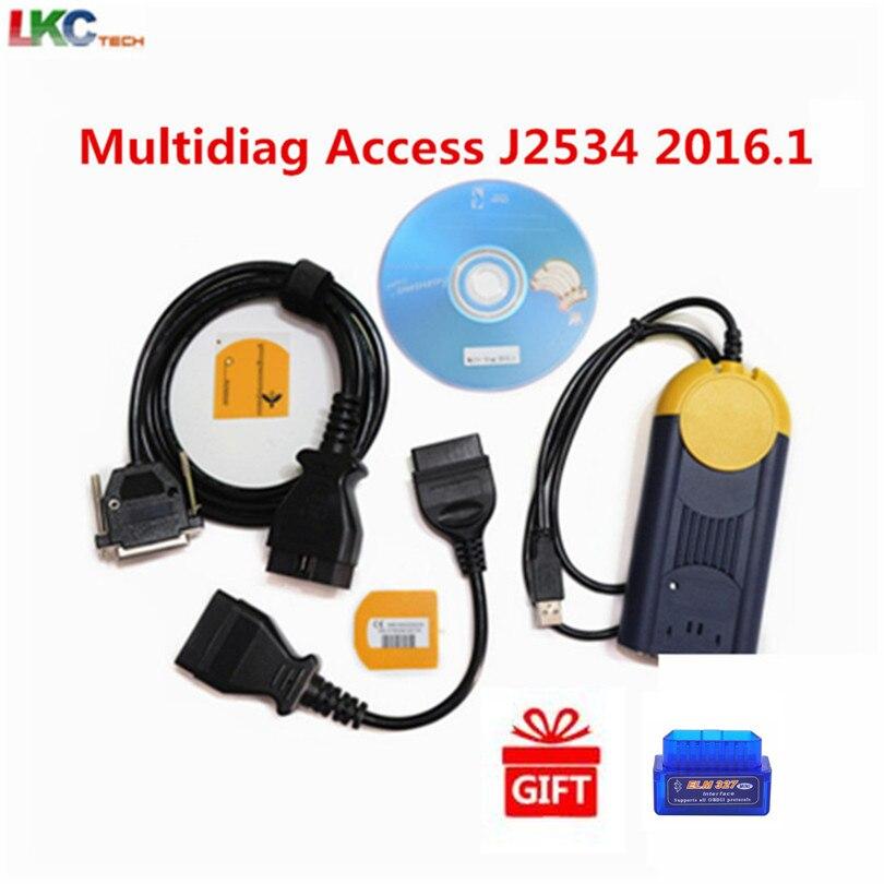2019 Mais Novo 2016.1 Versão Multi Diag Acesso J2534 J2534 OBD2 Dispositivo Multidiag interface de ferramenta de Diagnóstico de melhor qualidade em estoque