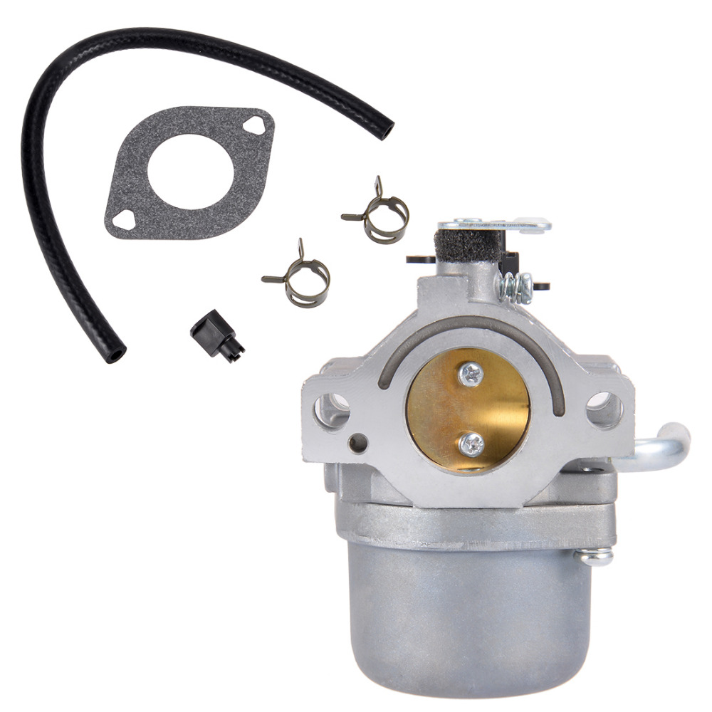 UXCELL New Hot Sale 590399 Carburetor Carb for Briggs & Stratton 796077 Lawn Mower Engine with Gasket Fuel Line