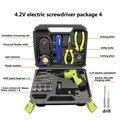 Электрическая отвертка набор USB зарядка электрическая дрель с 45 бит ножницы для ленты измерительные режущие плоскогубцы универсальный нож