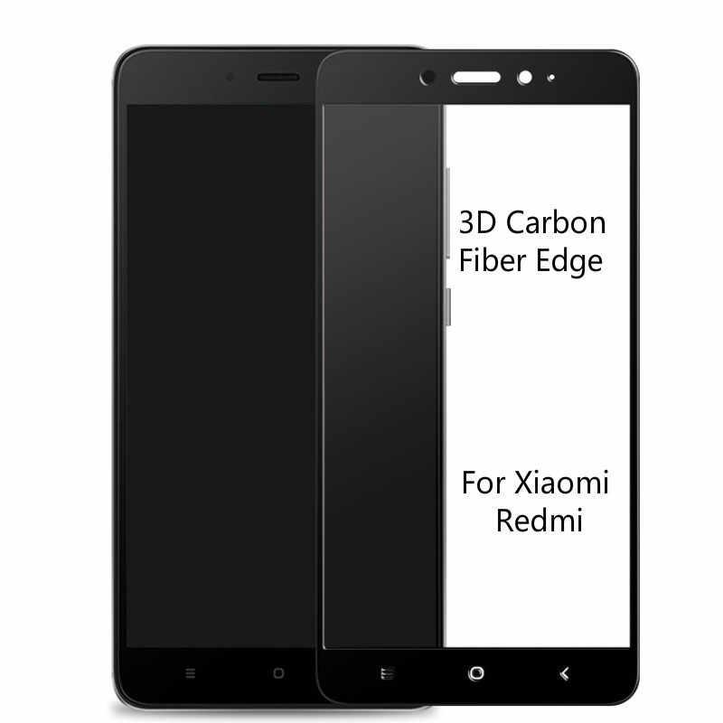3d湾曲したエッジガラス用xiaomi redmi 4x 5a 4a強化ガラスredmi 5プラス炭素繊維スクリーンプロテクター用redmi注5a