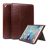 QIALINO Genuine Leather Case for iPad Pro 12.9 Flip Fashion pattern Stents Dormancy Stand CoverCard Slot case