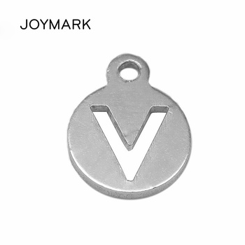 11x14mm Real 925 Sterling Silver Round Tag Charms With Hollow V For DIY Jewelry Making Findings 10 pcs/lot STA-11x14mm