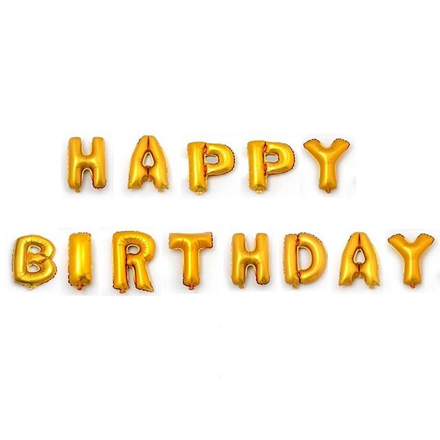 16 Zoll Englisch Brief Alles Gute Zum Geburtstag Aluminium Ballon