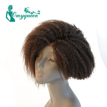 Lace Front Wig Yaki Straight Human Hair Wigs Brazilian Lace Front Wig Glueless Kinky Straight Bleached Knots For Black Women